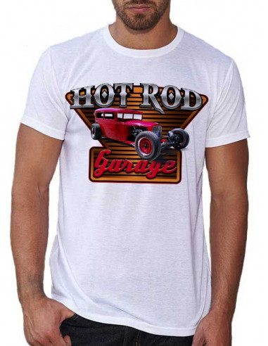 T-shirt homme voiture Hot rod