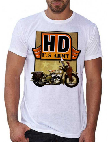 T-shirt homme moto H.D USA Army