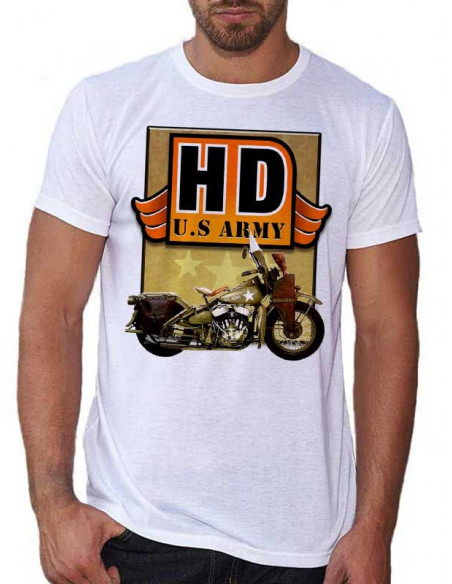 T shirt homme - Moto Harley Davidson - USA Army