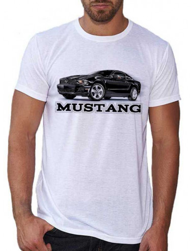 T-shirt Blanc homme - Mustang Noire