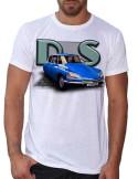 T-shirt blanc - homme - D.S Bleue