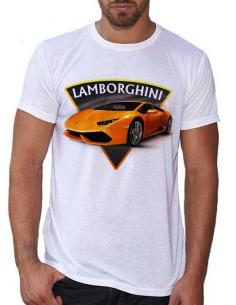 T-shirt blanc - Homme - Lamborghini