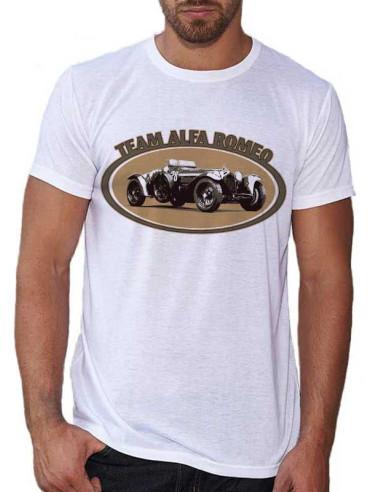 T-shirt Blanc homme - Team Alfa Romeo
