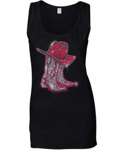 DÉBARDEURS-FEMME- Bottes rouges avec chapeau