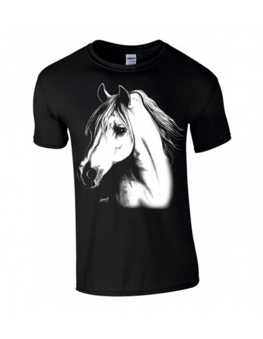 T-shirt enfant portrait d'un Cheval arabe