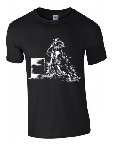T-shirt noir, Enfant - Cowboy Western