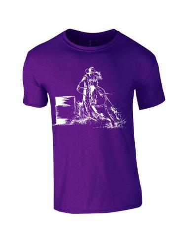 T-shirt violet, Enfant - Cowboy Western
