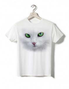T-shirt enfant - Chat blanc