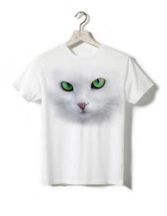T-shirt enfant - Chat blanc