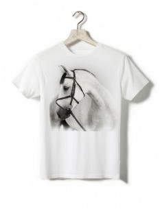 T-shirt enfant - Cheval gris