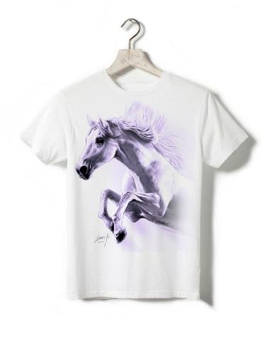 T-shirt enfant - Cheval qui saute violet