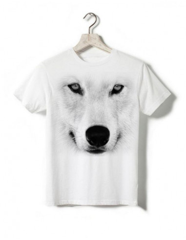 T-shirt enfant - Loup blanc