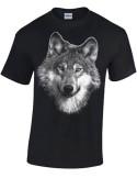 T-shirt Noir Enfant - Loup