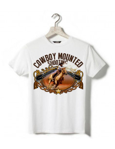T-shirt blanc - Enfant - Cowboy mounted shooting