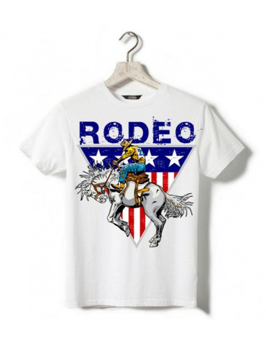 T-shirt blanc - Enfant - Horse Rodeo