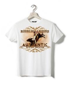 T-shirt blanc - Enfant - Rodéo bull riding