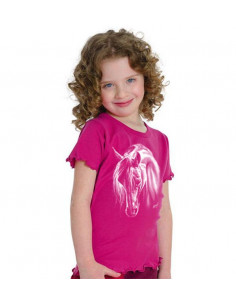 T-shirt enfant - Mouse girl's fashion -Cheval Crin blanc