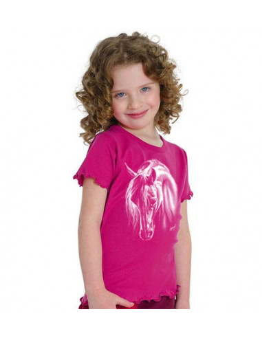 T-shirt fille - Mouse girl's fashion - Crin blanc