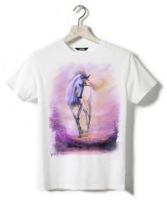 T-shirt blanc - Enfant - Licorne