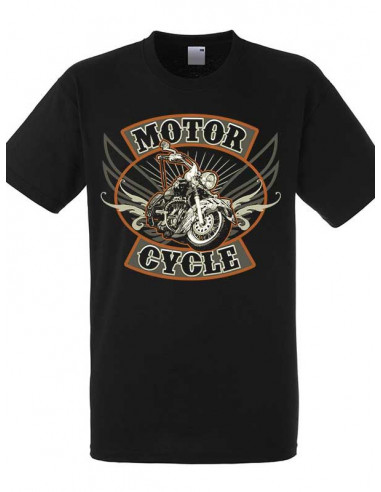 T-shirt noir homme Moto Indian