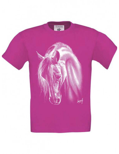 T-shirt enfant Cheval crins blancs