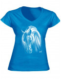 T-shirt turquoise - Crins blancs