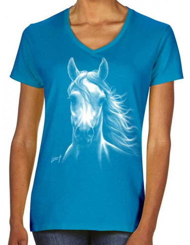 T-shirt femme cheval blanc