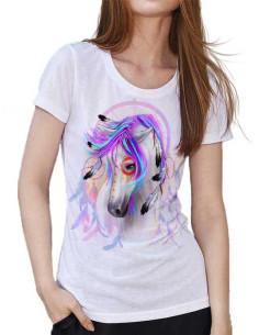T-shirt femme cheval indien