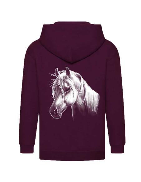 Veste sweat zippée enfant poney