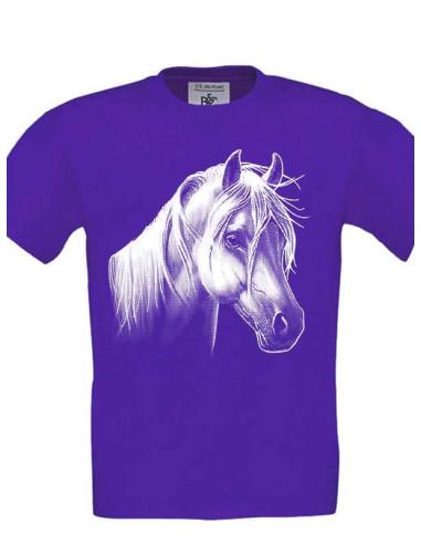 Tee-Shirt  couleurs violet, enfant  - Poney