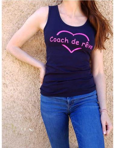 T-shirt  - Coach de rêve - Rose fluo