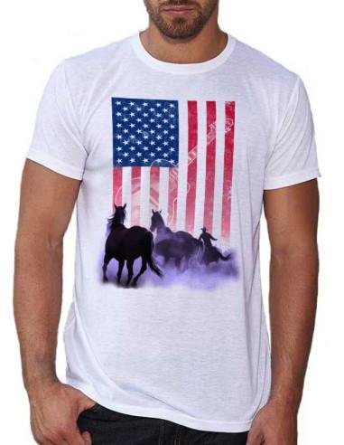T-shirt homme cavalier western