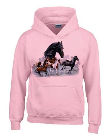Sweat Shirt Enfant - Troupeaux de chevaux et Frisons