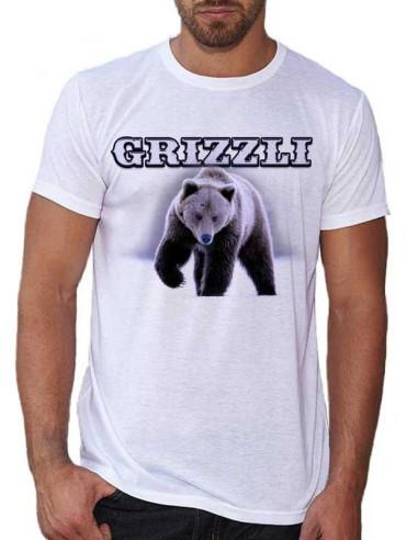 T-shirt blanc homme - Avec Grizzli