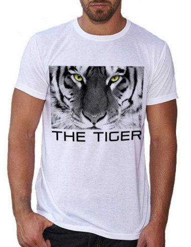 T-shirt blanc homme - The Tiger