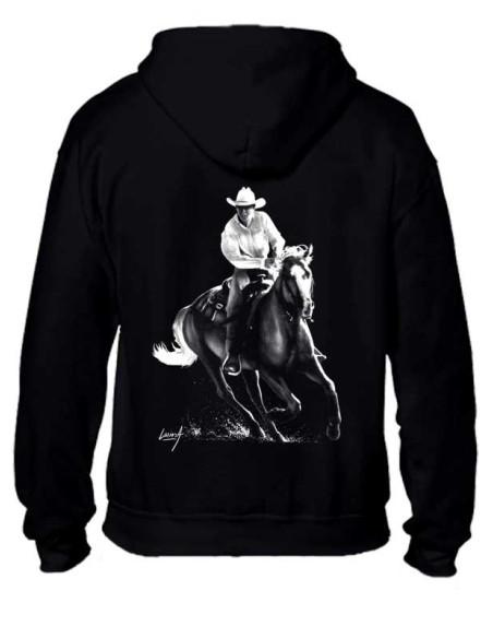 Sweat-shirt zippé Noir Homme - Mixte - Cowboy