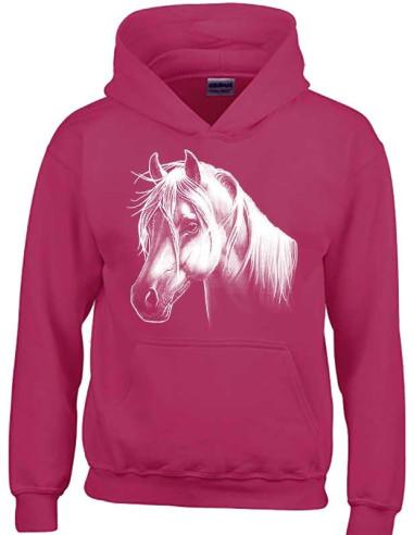 Sweatshirt mixte pour enfant avec poney