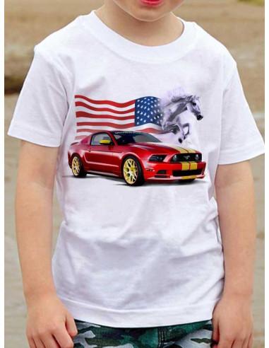 T-shirt enfant - Mustang rouge