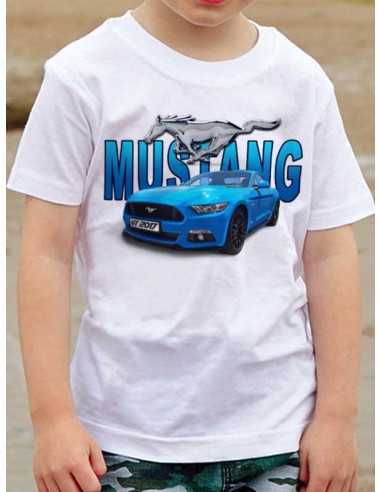 T-shirt enfant - Mustang bleue