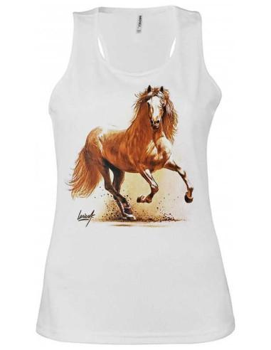 Débardeur avec cheval espagnol