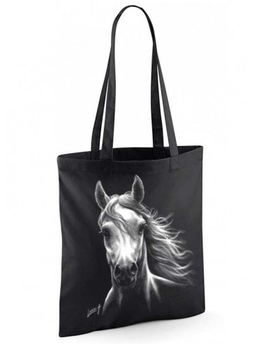 Sac noir shopping - Tote-bag - Cheval blanc