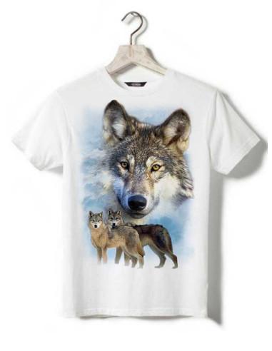 T-shirt enfant avec meute de loups