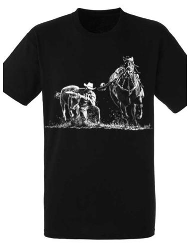 T-shirt noir - Homme - Bull Dogging