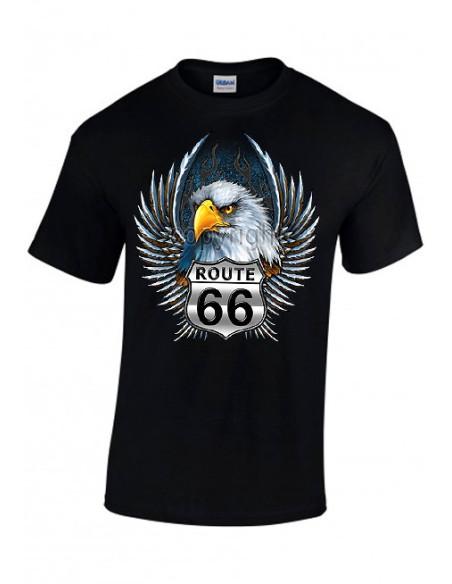 T-shirt Noir - coton- Aigle Route 66