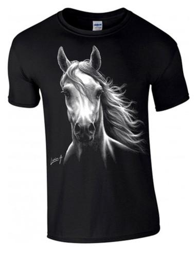T-shirt noir - Homme - Cheval blanc