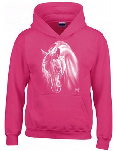 SWEAT SHIRT CAPUCHE ENFANT Cheval Crins Blancs