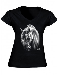 T-shirt - Femme - Crins blancs
