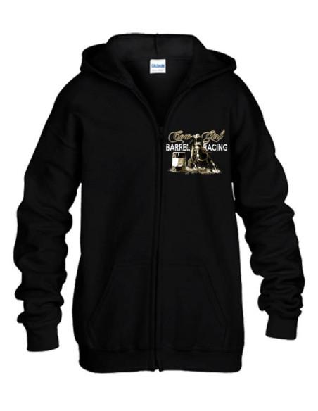 Sweat-shirt noir avec zip  - Western