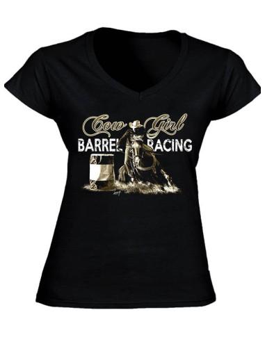 T-shirt noir - Femme - Barrel Racing - Vintage