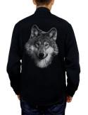 Chemise noire - Homme - Loup - Dos